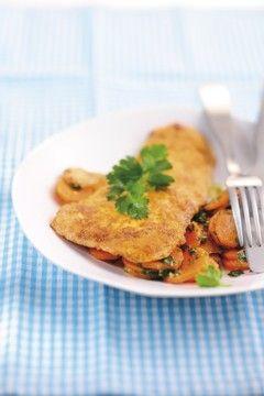 LOGI Rezepte: Puten-Ei-Piccata mit Honigmöhren, ein gesunder Genuss für die schlanke Linie ist dieses LOGI Methode Diät Rezept ...