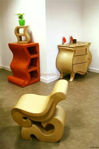 Carton Elle Meubles En Carton Cardboard Furniture Paper Furniture Cardboard Storage