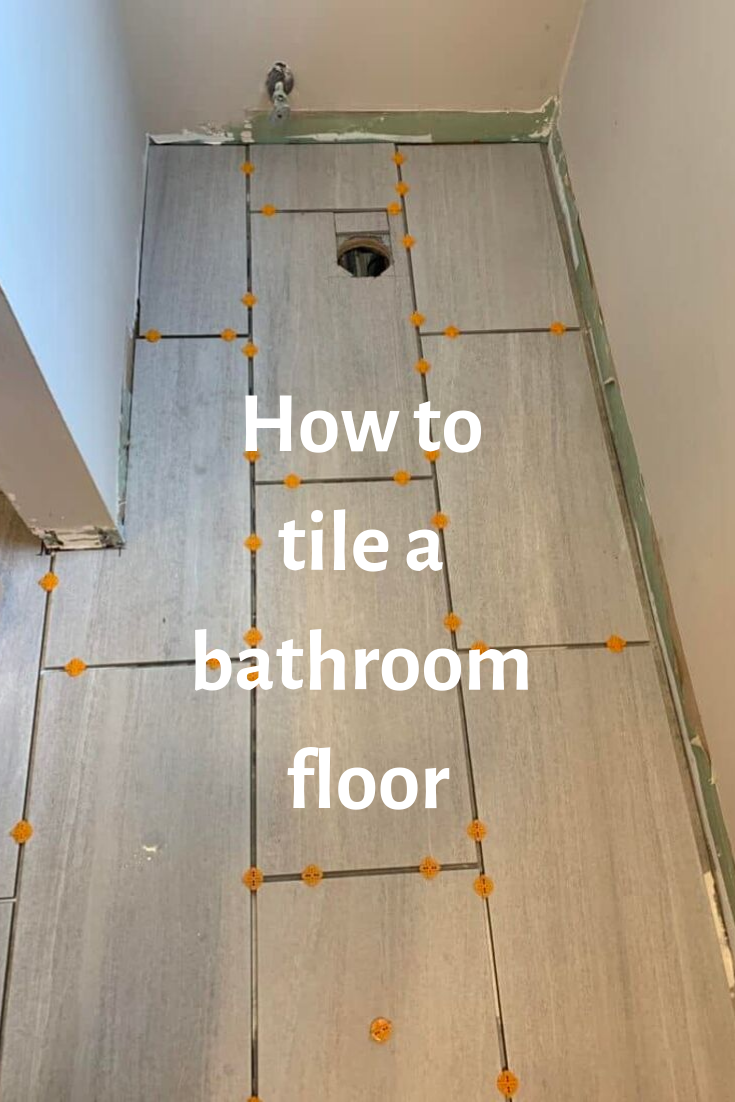How To Install Tile On A Bathroom Floor In 2020 Tile Installation Bathroom Flooring How To Lay Tile