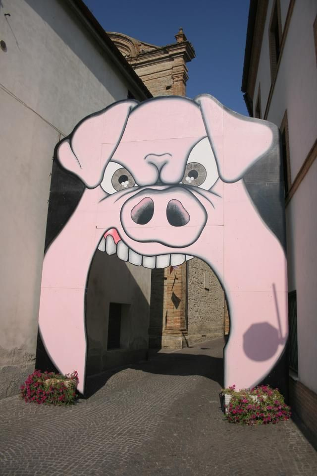 L'ingresso del Porkofestival a Rotella (AP)