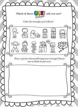 Calming Strategies Worksheet- An Activity to Promote