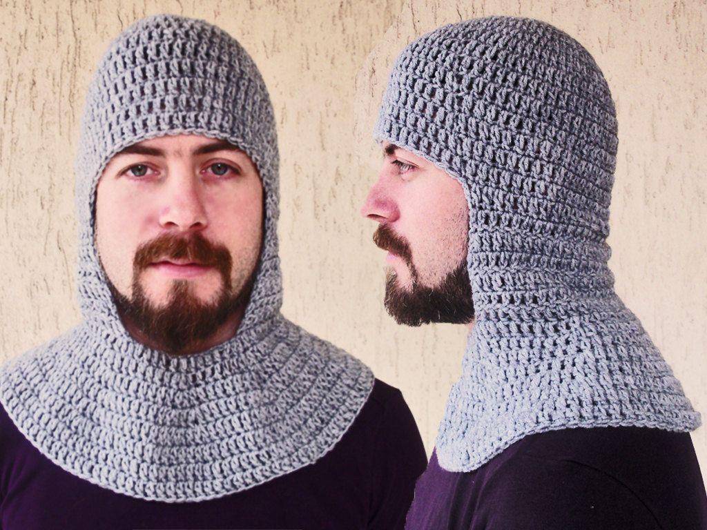 Crochet chainmail coif grey medieval coif knight helmet 4000 crochet chainmail coif grey medieval coif knight helmet 4000 via etsy bankloansurffo Image collections