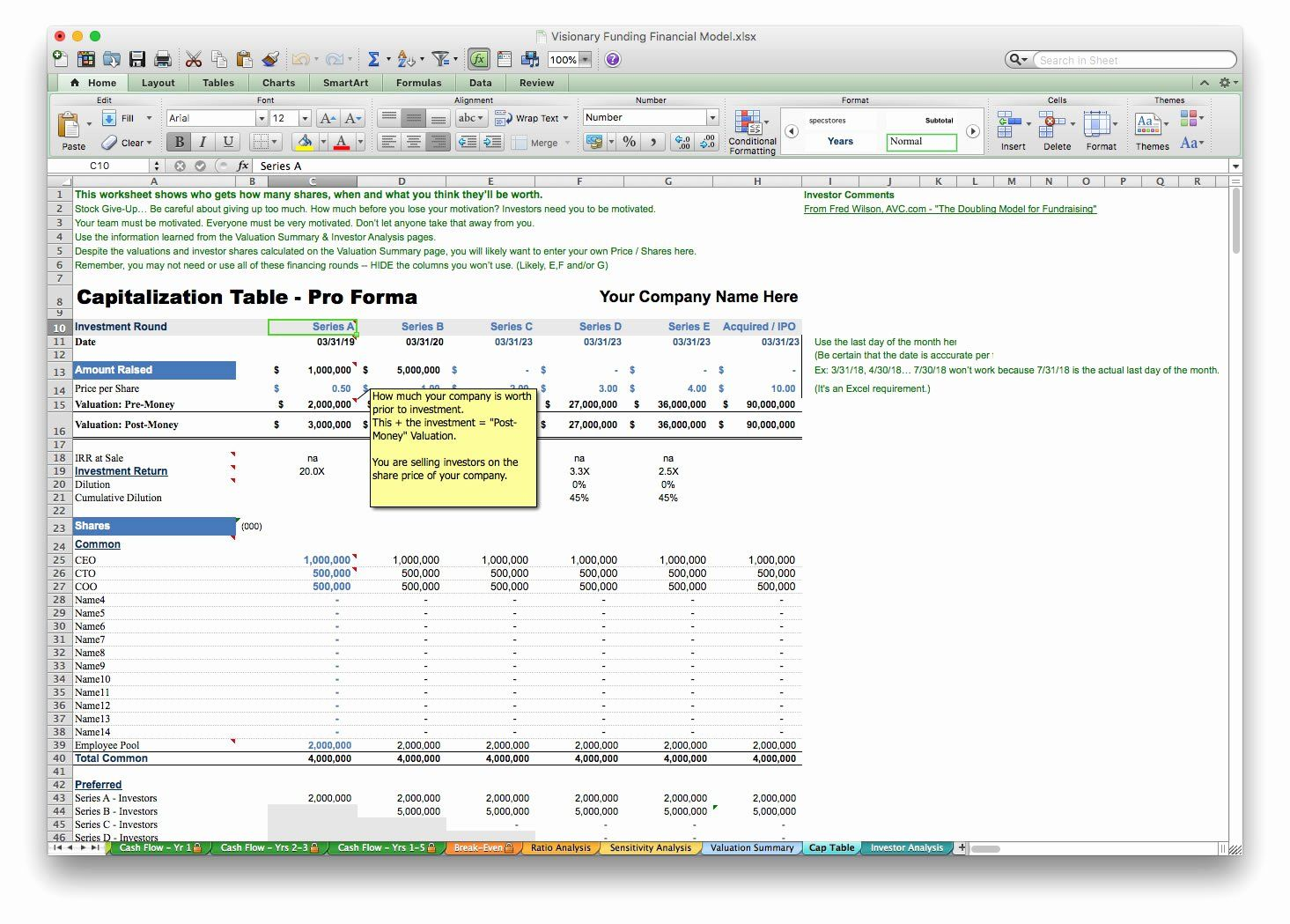 Business Plan Financial Projections Excel Lovely Business
