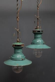 Lumax pendant rewired gas lamps ~ love the color  Vintage Light  FixturesVintage ...