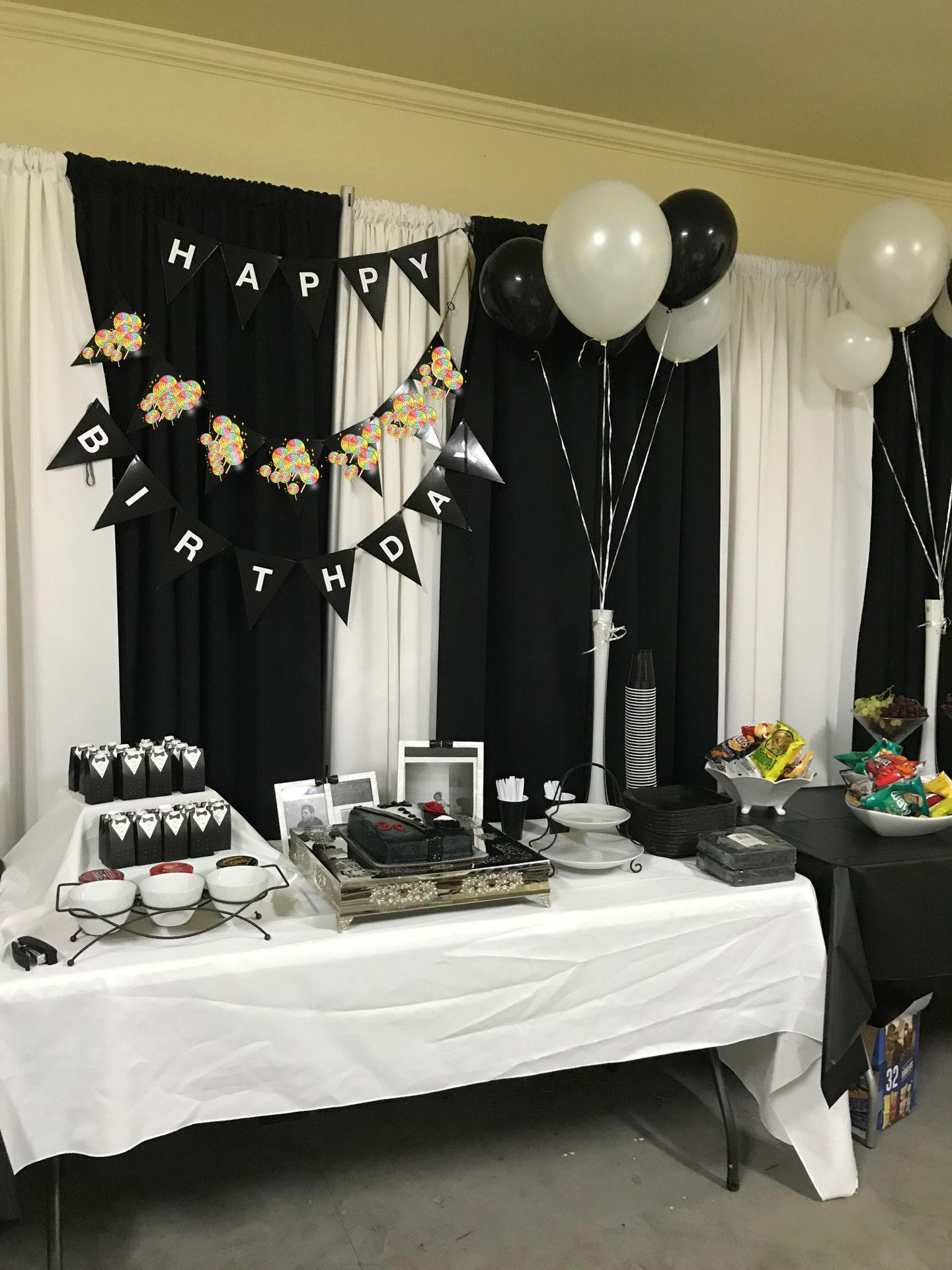 Black And White Party Ideas White Party Decorations Black And