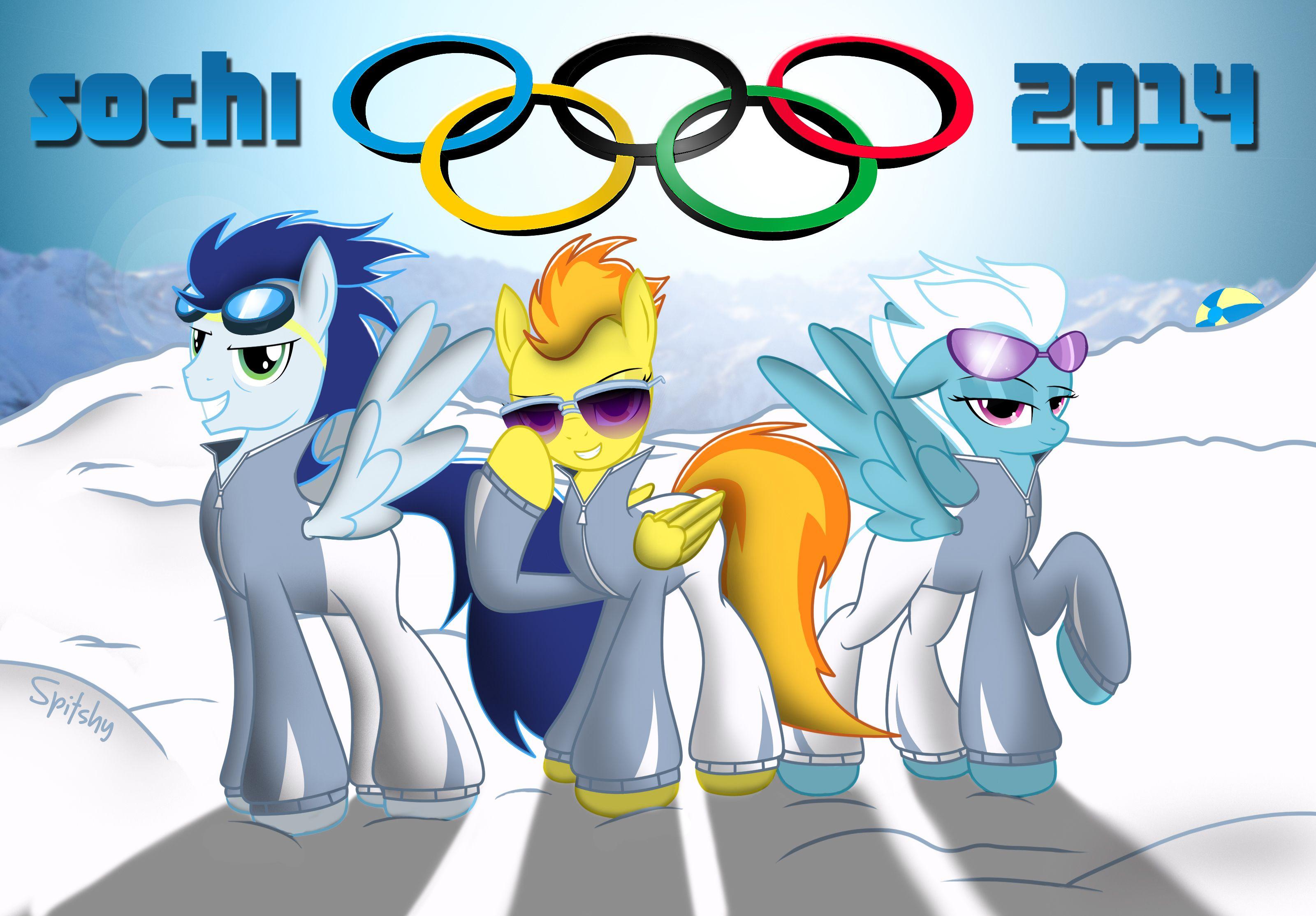 The Wonderbolts at the winter games! by Spitshy.deviantart.com on @deviantART