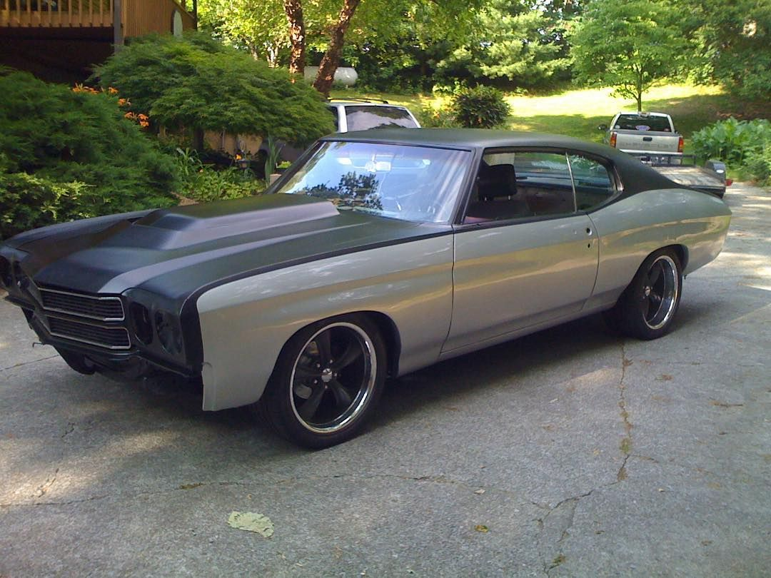 70 chevelle grey and matte black two tone paint job アメ軚