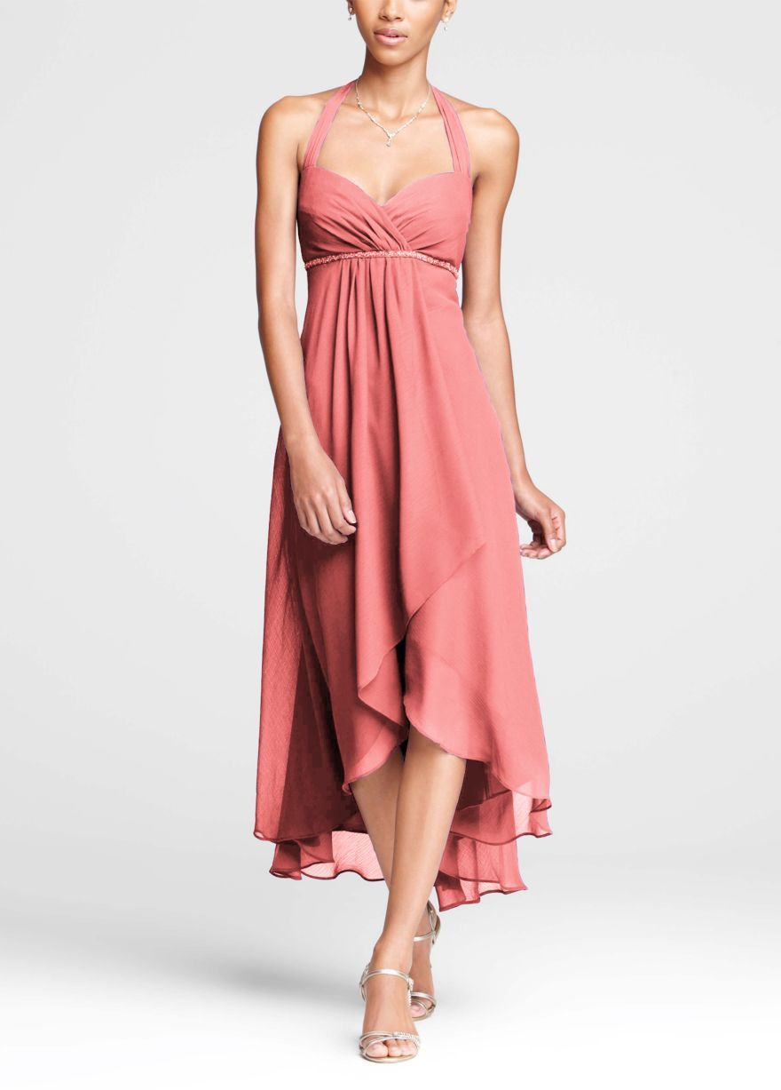 My dress arrived so quickly (10 days) and it is just perfect! The color was as expected (dusty rose), the custom measurements I gave were followed (thanks Amy, Sophie, and Tina for your communicative emails), and the quality of fabric (chiffon), stitching, and finishing are excellent.