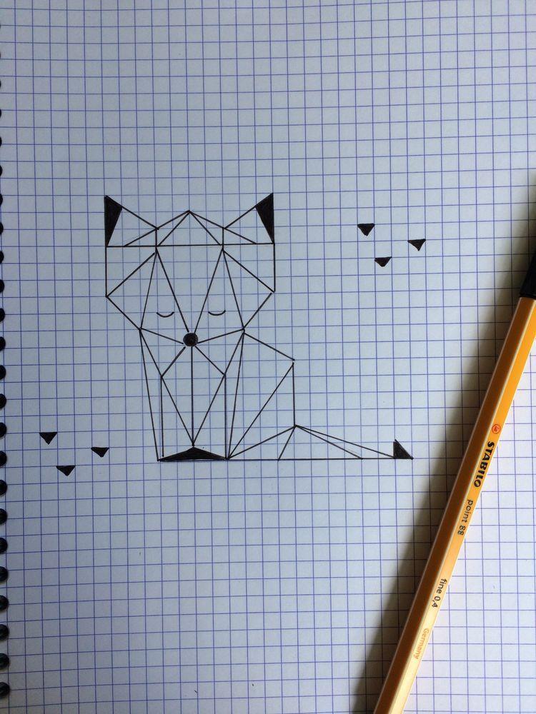 Photo of Teach kid make a fox with triangle