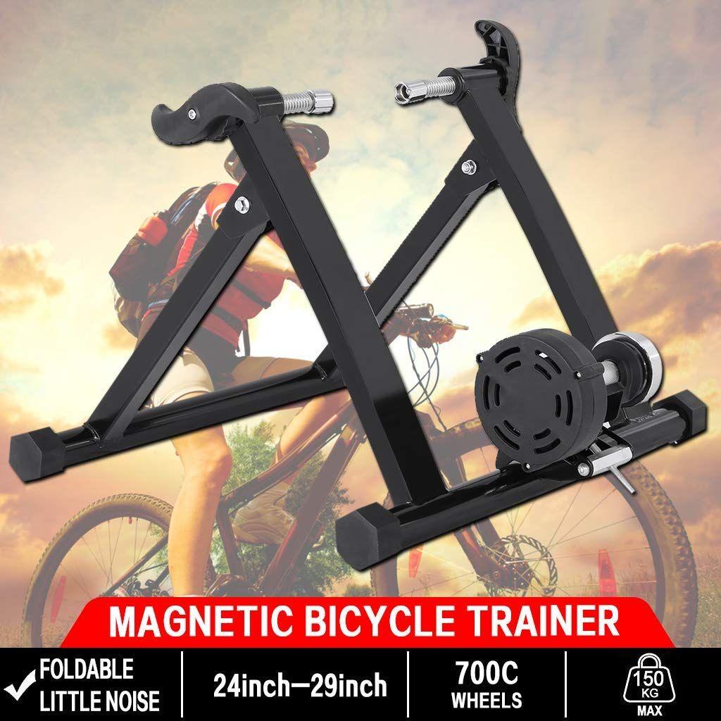 Sportneer Fluid Bike Trainer Stand Black Bicycle Workout Indoor