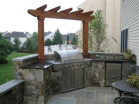 Pin By Juliana Harrison On Outdoor Style Backyard Outdoor Kitchen Backyard Kitchen