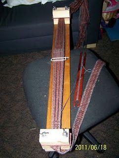Homemade Tablet weaving loom