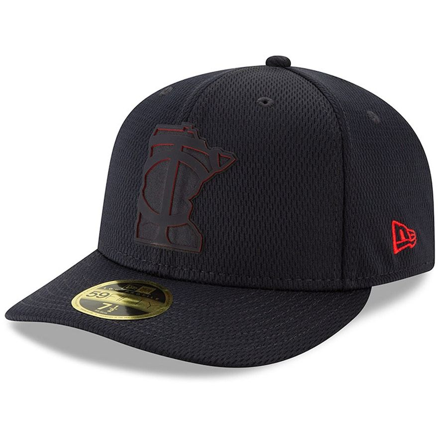 large discount multiple colors arriving Men's New Era Black Minnesota Twins 2019 Clubhouse Collection Low ...