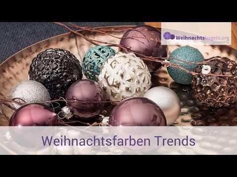 Weihnachtsfarben - Weihnachtsdeko Trends