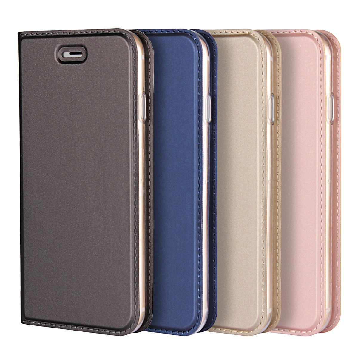 factory price 1760e 7c2dc $4.39 - For Iphone X/8 Plus/7 Plus/6S Plus Slim Flip Leather ...
