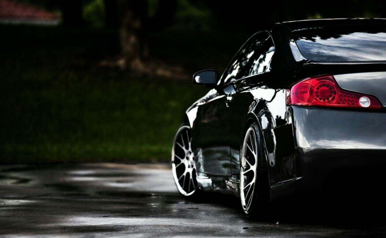 G35 Coupe Black Car Wallpaper Black Car Sports Car Wallpaper
