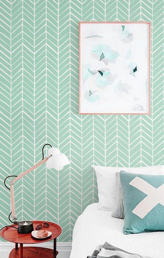 Self Adhesive Vinyl Wallpaper Herringbone Pattern Print Etsy Vinyl Wallpaper Self Adhesive Wallpaper Herringbone Wallpaper