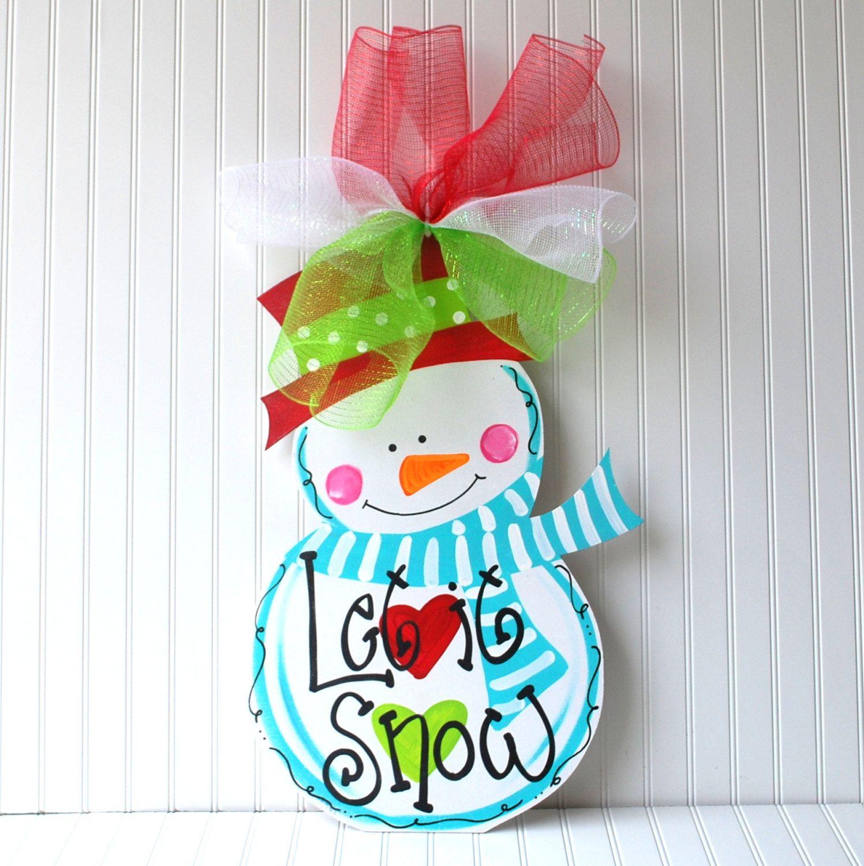 Decorative door hangers craft - Wooden Cutouts Christmas Door Hangers Google Search