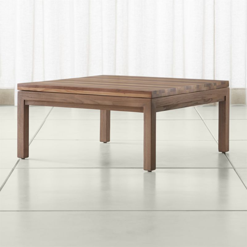 Best Parsons Reclaimed Wood Top Elm Base 36X36 Square Coffee 400 x 300