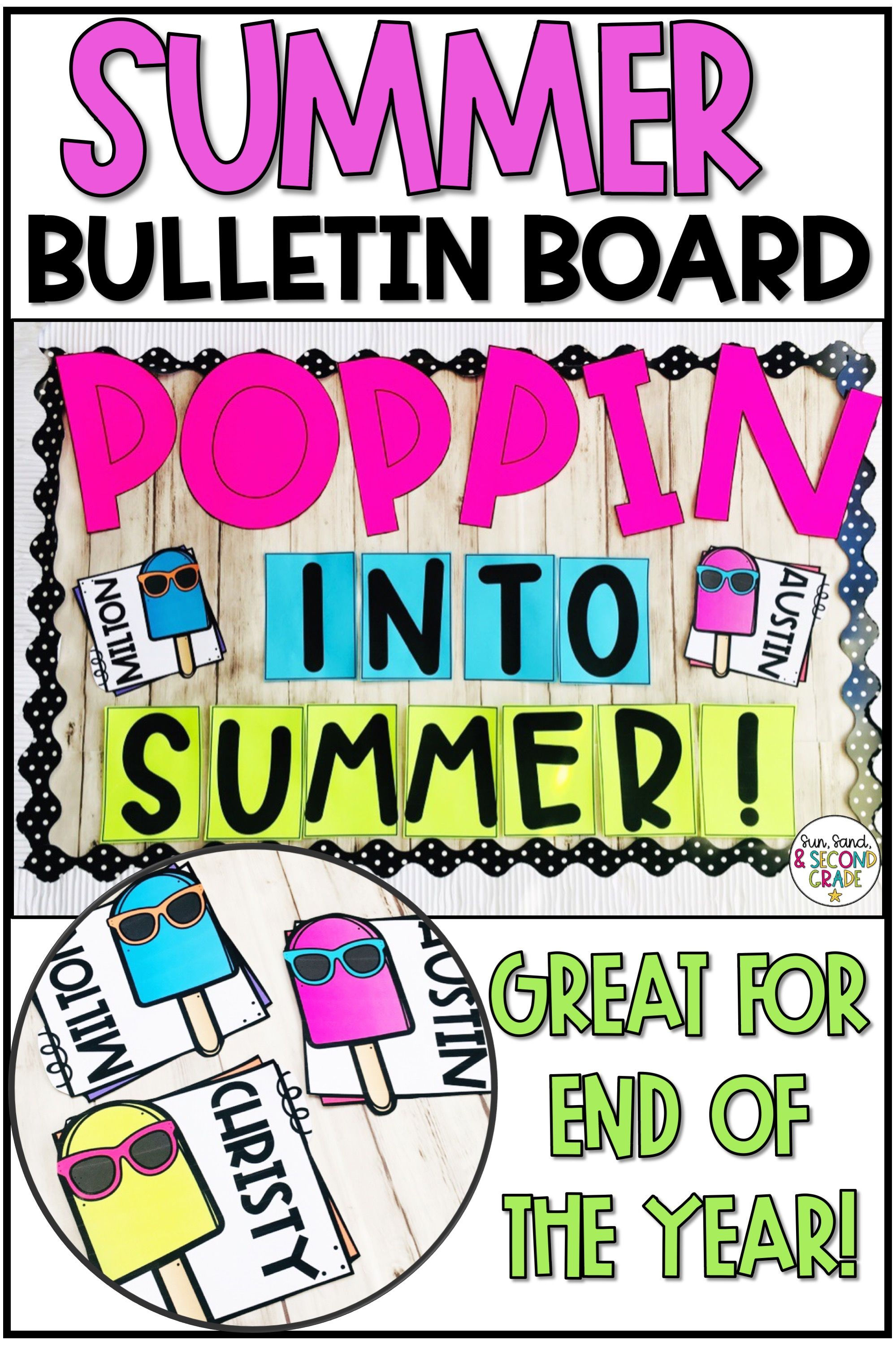 Looking For An End Of The Year Or Summer Bulletin Board Idea This Cute And Creativ School Door Decorations Door Decorations Classroom Summer Door Decorations