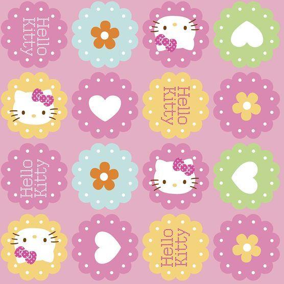 Nursery Fabric- Hello Kitty Hearts