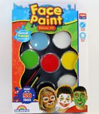 My daughter's fifth birthday party is coming up and I think she'd love this.  I've seen some pictures of children's birthday parties where they have a face-painting booth.  I'm assuming you can get something like this at an art supply company.  I'm curious to know what type of brushes you'd want to get with this.