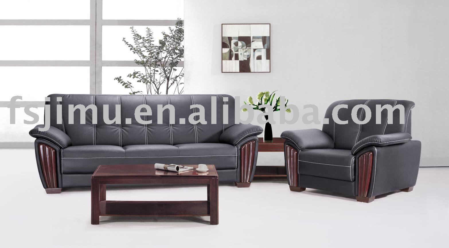 High End Leather Furniture Comfortable Luxury Office Sofa