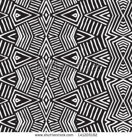 Vector African pattern seamlessly tiling Seamless pattern can be Interesting African Pattern