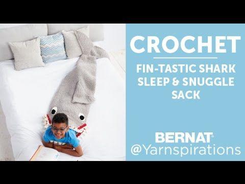Fin-tastic Shark Snuggle Sack - Patterns | Yarnspirations| Bernat ...