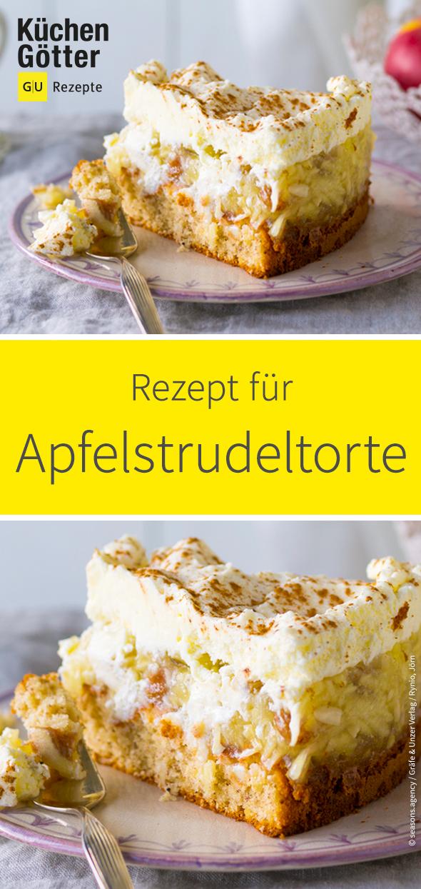 Apfelstrudeltorte #bananadessertrecipes