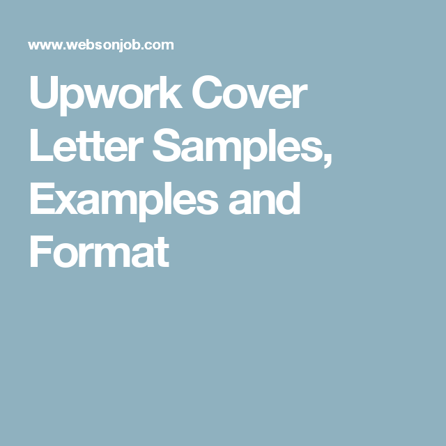 Upwork Cover Letter Samples Examples And Format Virtual Assistant
