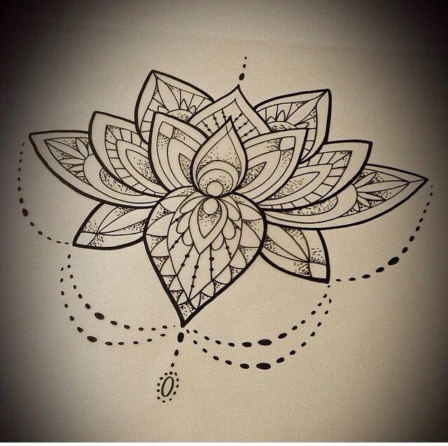 Lotus Mandala Flower Sternum Tattoo Tattoo Pinterest Tatouage