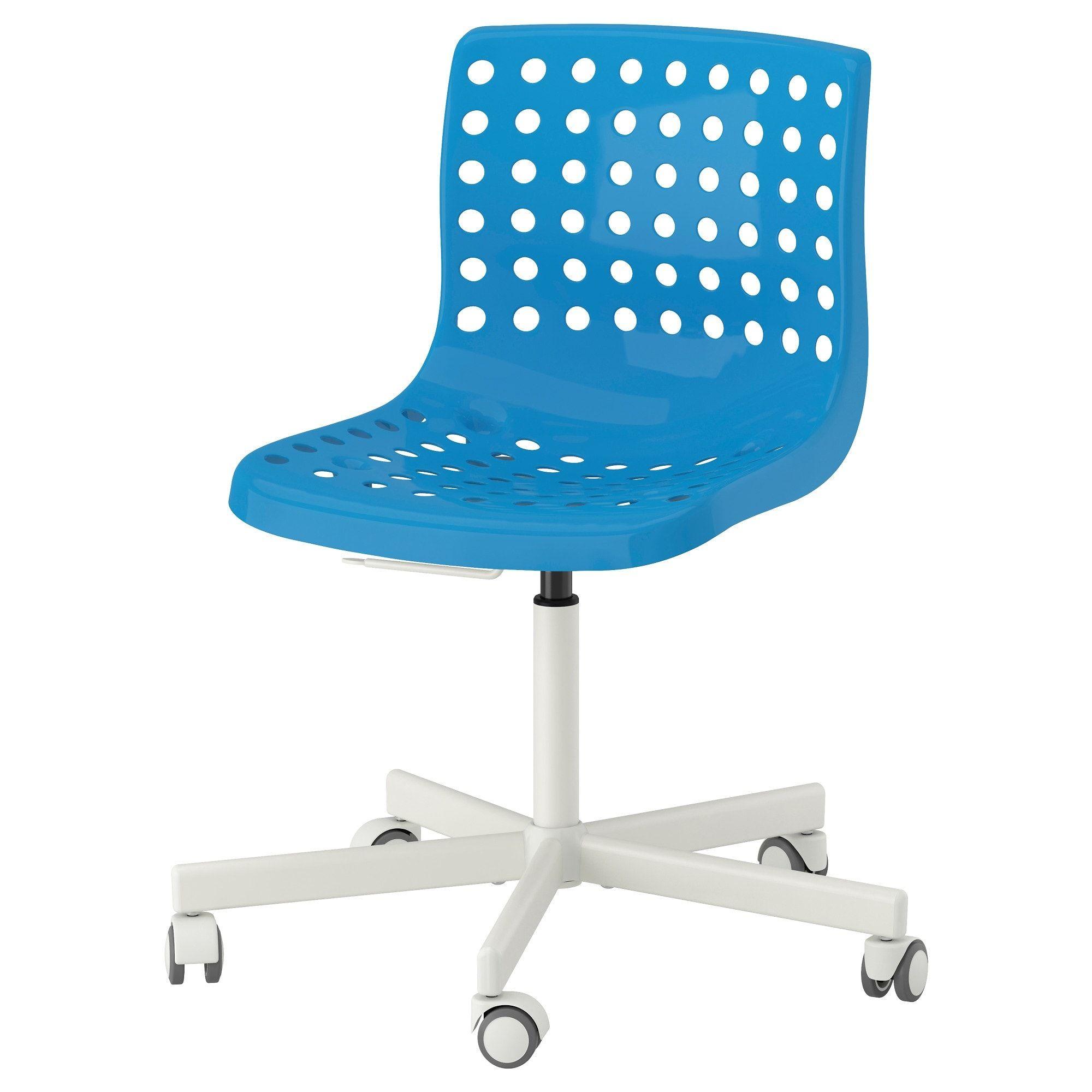 Ikea skalberg sporren blue white swivel chair swivel