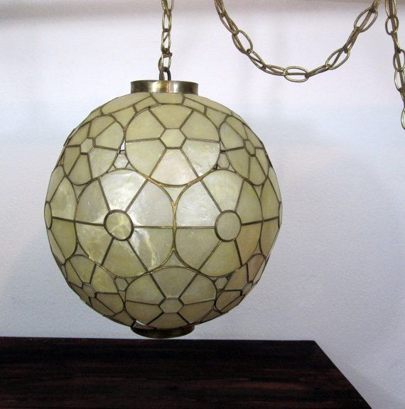 Old World Dining Room Chandeliers: Vintage 1960s Globe Hanging Light Fixture / Retro Swag By
