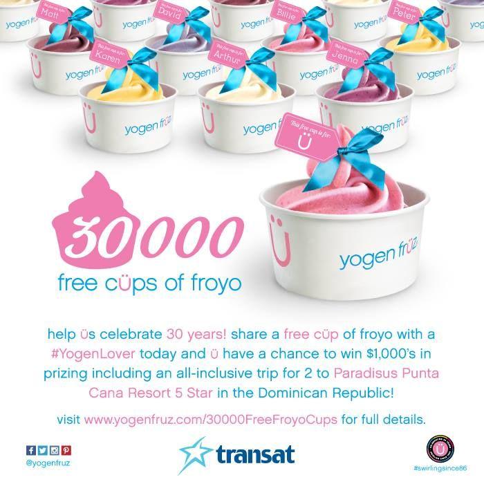 Yogen Fruz Contests Send a # FREE cup of # froyo