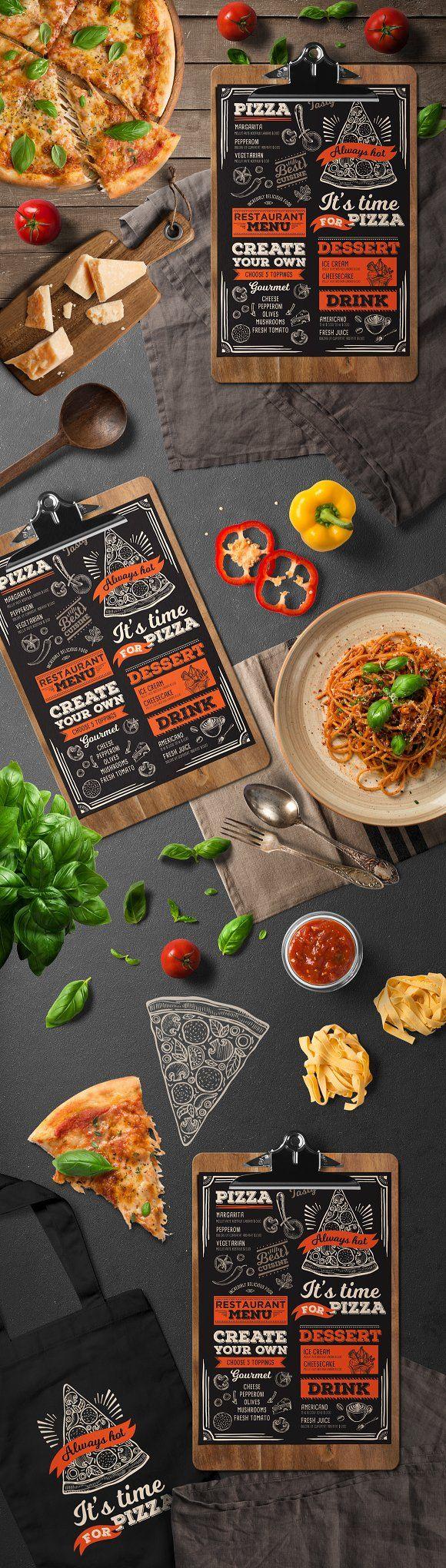 Pizza Food Menu Template | Pinterest | Restaurante, Bahareque y Pizzas
