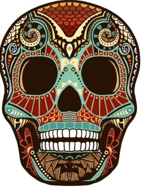 Rockabilly Damen T-Shirt Muertos 2 Vintage Mexico Sugar Skull Tattoo