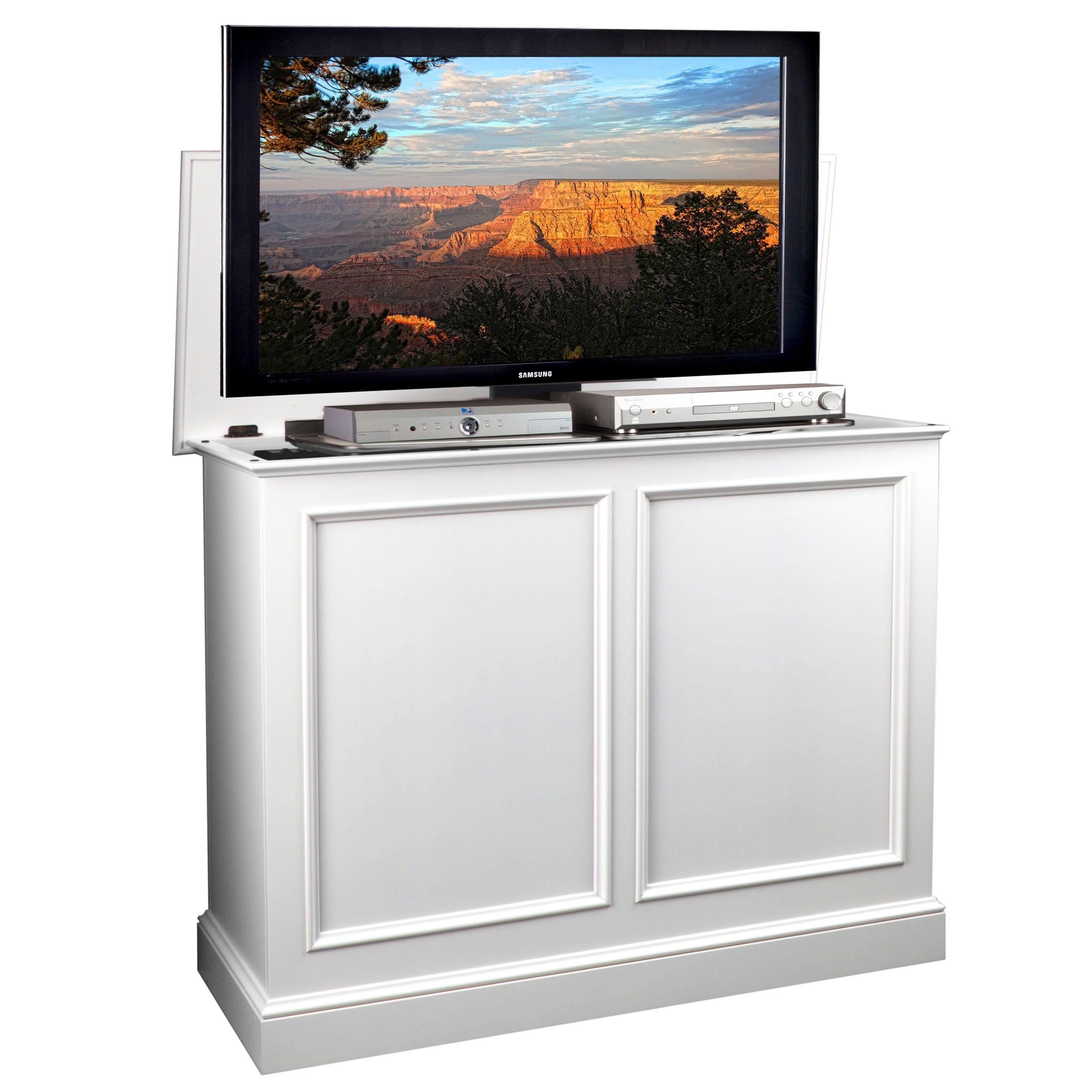 Carousel white tv lift white tv tvs cool tv stands