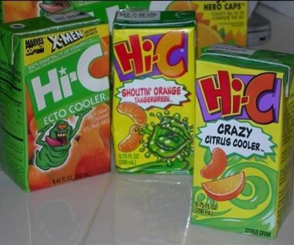 Hi-C Ecto Cooler - Food of the 90's   I would love one right now :)