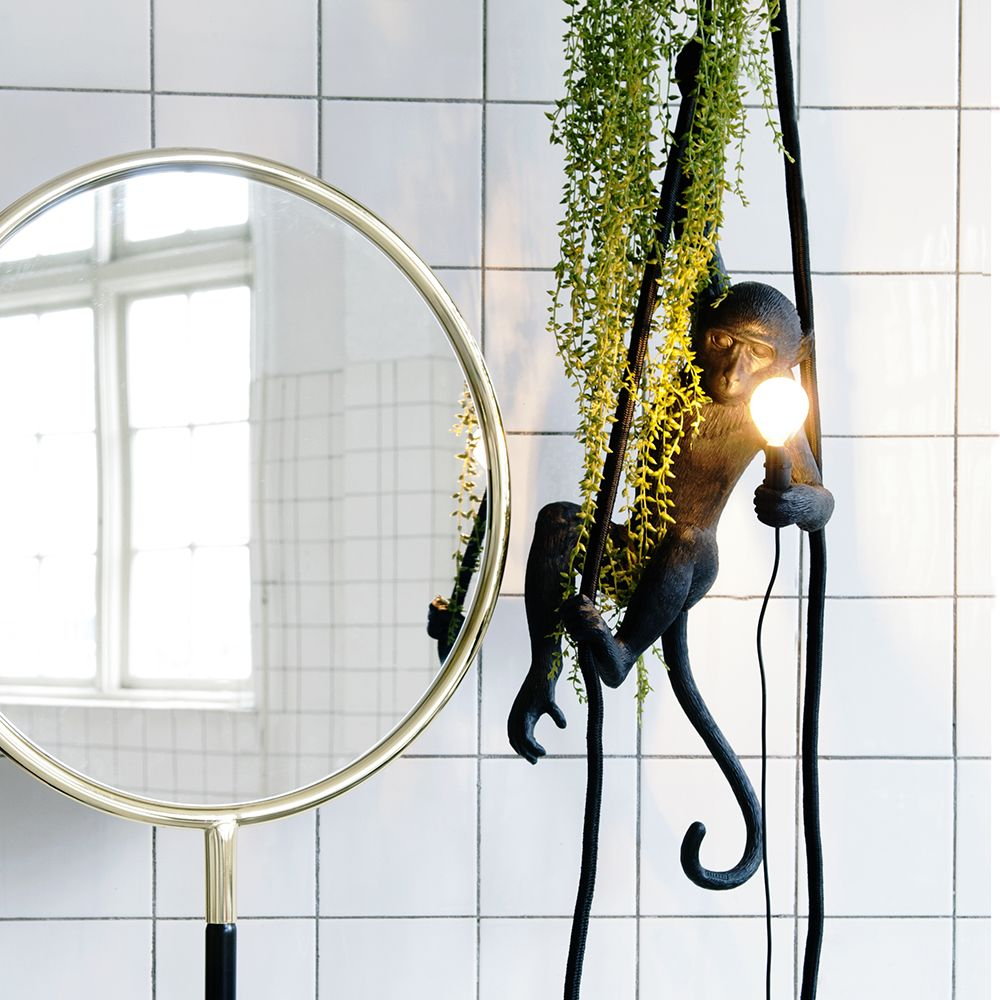 Seletti Hanging Ceiling Monkey zwart (buiten proof)   Home