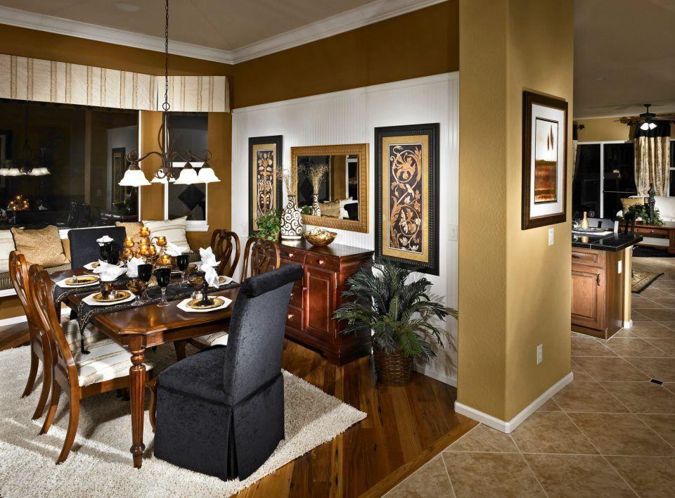 Formal dining room in Taylor Morrison home in Denver ...