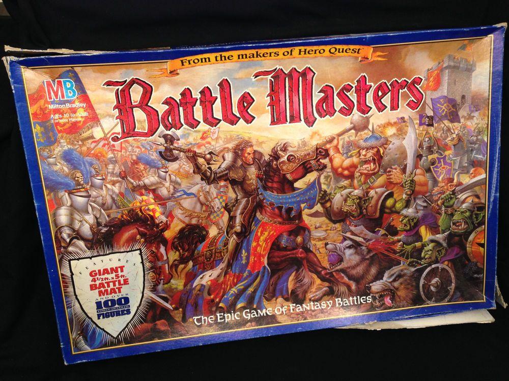 Vintage Battle Masters Epic Fantasy Battle Board Game