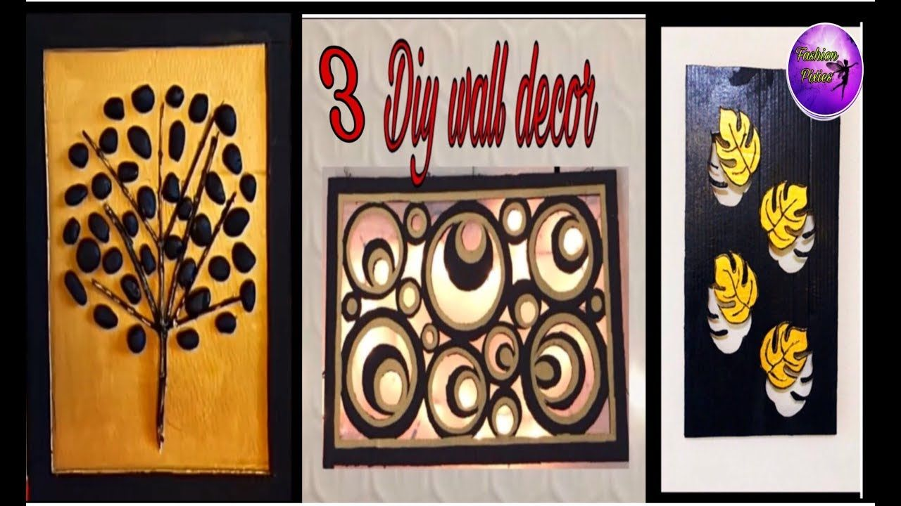 3 Unique Wall Hanging Ideas Diy Wall Decor With Lighting
