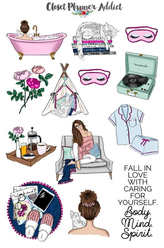 Me Time Planner Stickers Rest Relaxation Stickers Self
