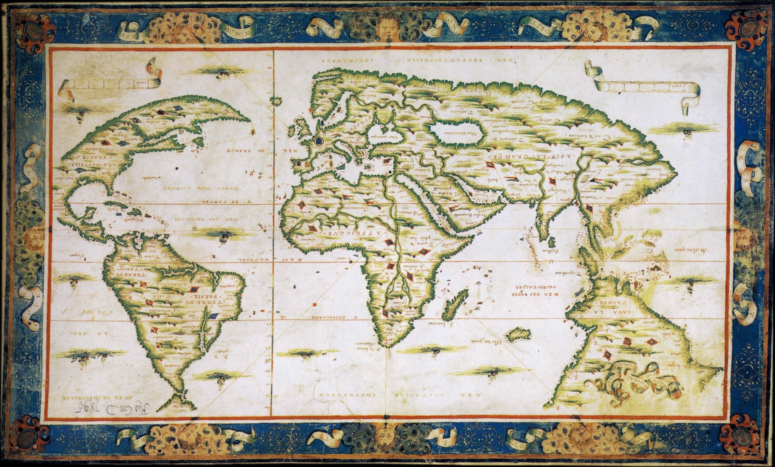 Portuguese map of 1566 showing the island of giants between portuguese map of 1566 showing the island of giants between madagascar and western australia gumiabroncs Images