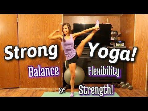 yoga workout for strong legs  balance flexibility