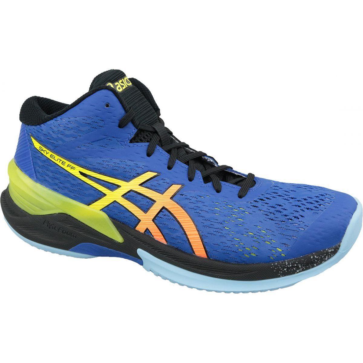 Buty Do Siatkowki Asics Sky Elite Ff Mt M 1051a032 400 Niebieskie Niebieskie Volleyball Shoes Mens Volleyball Shoes Blue Shoes
