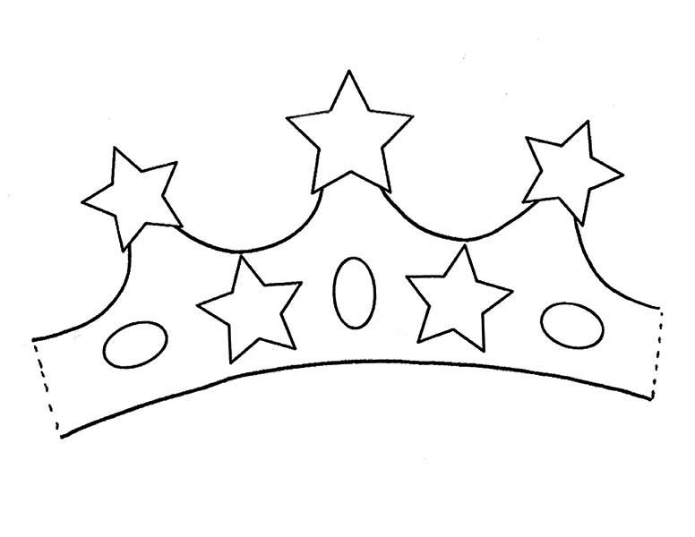 Princess Crown With Five Stars Of Gold Coloring Page Netart Coloring Pages Crown For Kids Printable Coloring Pages