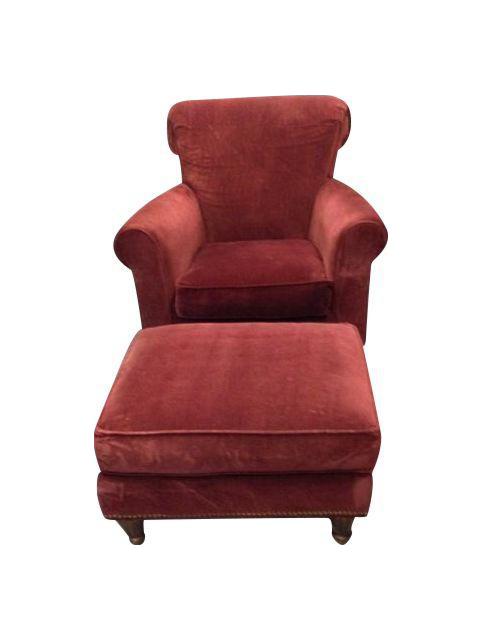 Abc Home Red Club Chair Amp Ottoman A Pair In 2019