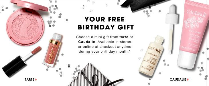 FREE Tarte Or Caudalie Mini Gift From Sephora For Your Birthday The Free 2017 Gifts Have Been Announced